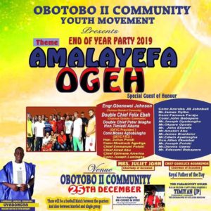 Dignitaries to storm Obotobo community as youth body holds end -of -Year party Dec 25